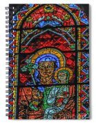 Stained Glass Of Chartres Spiral Notebook