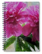 Stained Glass Peonies Spiral Notebook