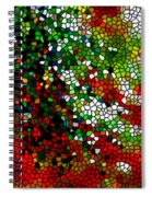 Stained Glass Pine Tree Spiral Notebook