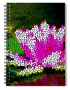 Stained Glass Pink Lotus Flower   Spiral Notebook