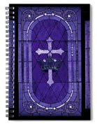Stained Glass - Purple Spiral Notebook