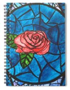 Stained Glass Roses Spiral Notebook