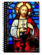 Stained Glass Saviour Spiral Notebook