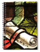 Stained Glass Scroll Spiral Notebook