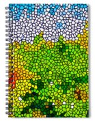 Stained Glass Sunflowers Spiral Notebook