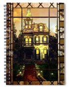 Stained Glass Template Victorian Twilight Spiral Notebook