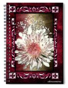 Stained Glass Template White Chrysanthemum Spiral Notebook