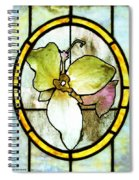 Stained Glass Template Woodlands Flora Spiral Notebook