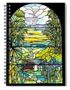 Stained Glass Tiffany Holy City Memorial Window Spiral Notebook