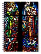 Stained Glass Window At Mont  Le Saint-michel Spiral Notebook