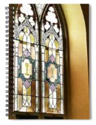 Stained Glass Window In Arch Spiral Notebook