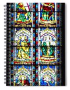 Stained Glass Window Of Santa Maria Del Fiore Church Florence Italy Spiral Notebook