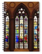 Stained Glass Windows At Saint Josephs Cathedral Buffalo New York Spiral Notebook