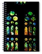Stained Glass Windows - Sagrada Familia Barcelona Spain Spiral Notebook