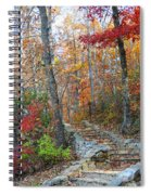 Staircase To Fall Spiral Notebook