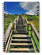 Stairs From The Beach Spiral Notebook