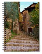 Stairs To The Village Spiral Notebook