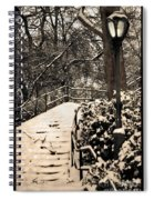 Stairway In Central Park On A Stormy Day Spiral Notebook