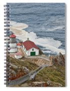 Stairway Leading To Point Reyes Lighthouse Spiral Notebook