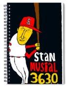 Stan Musial St Louis Cardinals Spiral Notebook
