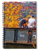 Stand By Me Impasto Spiral Notebook
