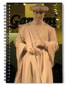 Living Statue Spiral Notebook