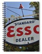 Standard Esso Dealer Spiral Notebook