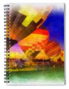 Standbye To Launch Hot Air Balloons Photo Art Spiral Notebook