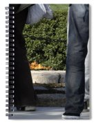 Standing Before The Eternal Flame Spiral Notebook