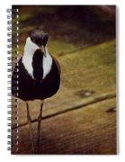 Standing Bird Spiral Notebook