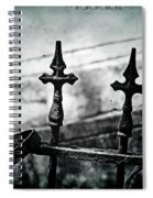 Standing Guard By Loved Ones - Bw Texture Spiral Notebook