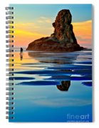 Standing In A Sea Of Blue Spiral Notebook