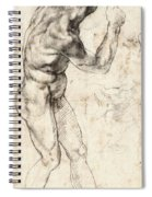 Standing Male Nude Spiral Notebook