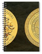Standing Rock Sioux Tribe Code Talkers Bronze Medal Art Spiral Notebook