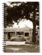 Stanifords Drug Store Ocean Ave.cor San Carlos Carmel Circa 1941 Spiral Notebook