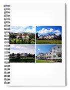 Stanley Hotel In Estes Park Colorado Collage Spiral Notebook