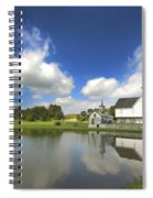 Star Barn And Pond Spiral Notebook