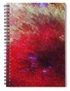 Star Burst - Red Abstract Art By Sharon Cummings Spiral Notebook