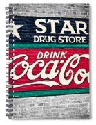 Star Drug Store Wall Sign Spiral Notebook