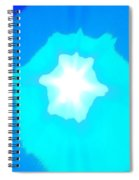Star In The Morning Sky - Painting Like Photograph Of The Sun In The Morning Sky Spiral Notebook