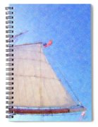 Star Of India. Flag And Sail Spiral Notebook