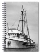 Star Of Monterey In Monterey Harbor Circa 1948 Spiral Notebook