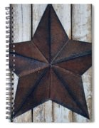 Star On Barn Wall Spiral Notebook