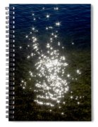 Star Reflection In The Water Spiral Notebook
