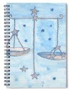 Star Sign Libra Spiral Notebook