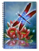 Star Spangled Dragonfly Spiral Notebook