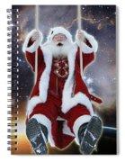 Santa's Star Swing Spiral Notebook