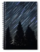 Star Trails And Pine Trees Spiral Notebook