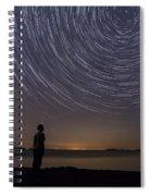 Star Trails Night Sky Landscape Vermont Lake Champlain Spiral Notebook