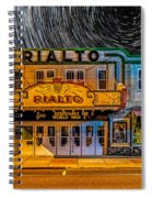 Star Trails Over The Rialto Spiral Notebook